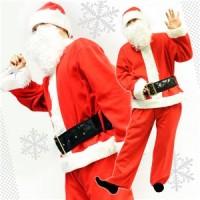 サンタ コスプレ メンズ 【Peach×Peach メンズ ベーシックサンタクロース 7点セット】 サンタ 衣装