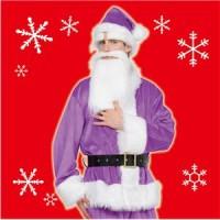 【クリスマスコスプレ 衣装】 GOGOサンタサン(パープル)