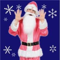【クリスマスコスプレ 衣装】 GOGOサンタサン(ピンク)