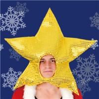 【クリスマスコスプレ 衣装】 キラキラスターヘッド