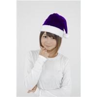 【クリスマスコスプレ】サンタ帽子 パープル